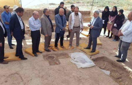 بازدید رئیس محترم دانشگاه تهران از دستاورد کاوشهای باستانشناسی دشت قزوین موسسه باستان شناسی